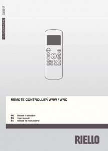 thumbnail of Usuario_Mando Inalámbrico_R410A_16122000A42942-UM (Riello)_2017_03_wireless remote controller